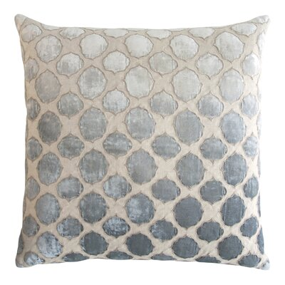Tile Appliqued Linen Throw Pillow Color: Seaglass