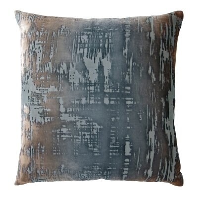 Brushstroke Velvet Throw Pillow Color: Gunmetal