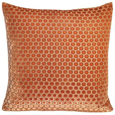 Dots Velvet Pillow Color: Mango, Size: 22 H x 22 W x 3 D