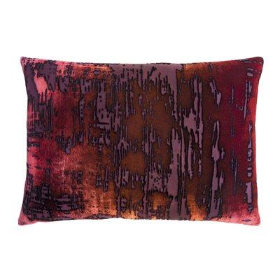 Brushstroke Velvet Lumbar Pillow Color: Wildberry, Size: 14 x 20