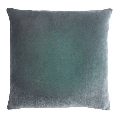 Ombre Velvet Throw Pillow Color: Jade