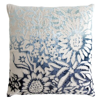 Garland Appliqued Linen Throw Pillow Color: Twilight