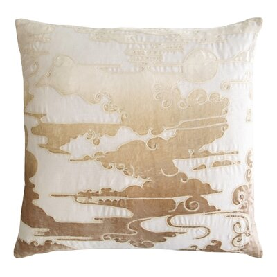 Cloud Appliqued Linen Pillow Color: Nickel