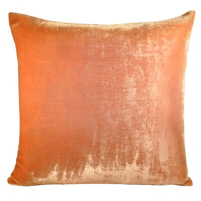 Ombre Velvet Throw Pillow Color: Mango