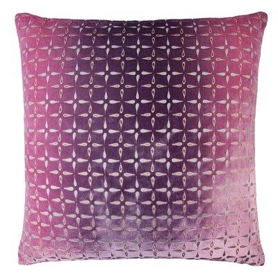 Metallic Petals Velvet Pillow Color: Grape