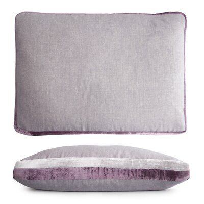 Double Tuxedo Lumbar Pillow Color: Wisteria