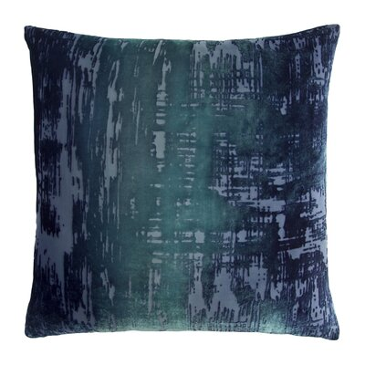 Brushstroke Velvet Throw Pillow Color: Shark Blue