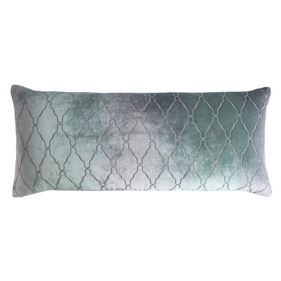 Arches Velvet Large Boudoir Pillow Color: Jade