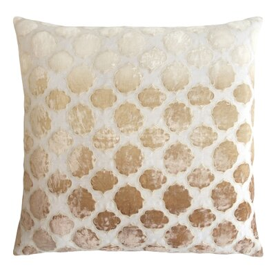 Tile Appliqued Linen Throw Pillow Color: Nickel