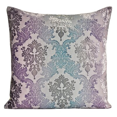 Brocade Velvet Pillow Color: Cornflower, Size: 22 H x 22 W x 3 D