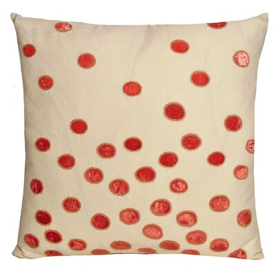 Ovals Embellished Throw Pillow Color: Coral