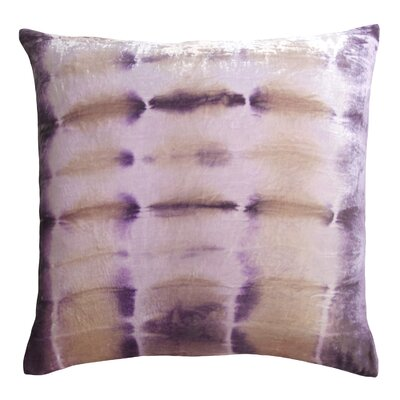 Rorschach Velvet Throw Pillow Color: Iris, Size: 18 H x 18 W