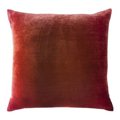 Ombre Velvet Throw Pillow Color: Wildberry