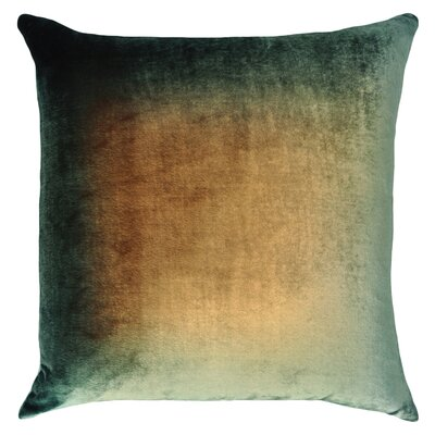 Ombre Velvet Throw Pillow Color: Green/Gold/Brown
