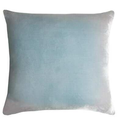 Ombre Velvet Throw Pillow Color: Robins Egg