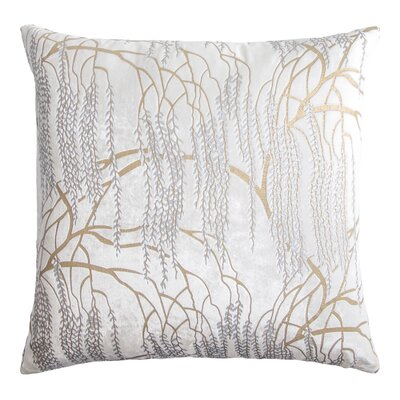 Willow Throw Pillow Color: White, Size: 22 H x 22 W x 3 D