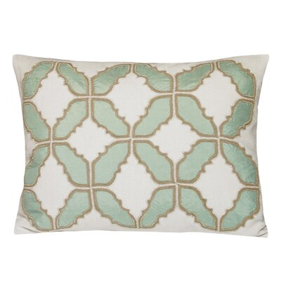 Baroque Embellished Tiles Cotton Lumbar Pillow Color: Mint
