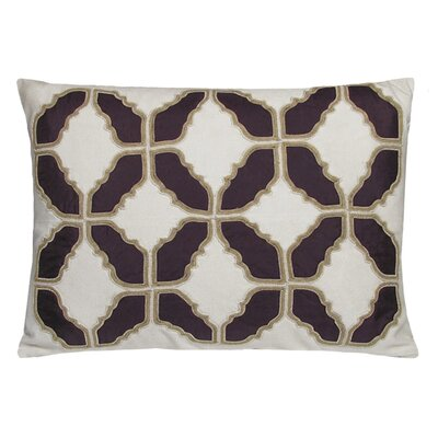 Baroque Embellished Tiles Cotton Lumbar Pillow Color: Shale