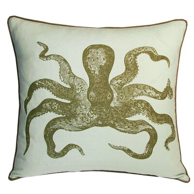 Nauticals Cuttlefish Pillow Color: Seaglass