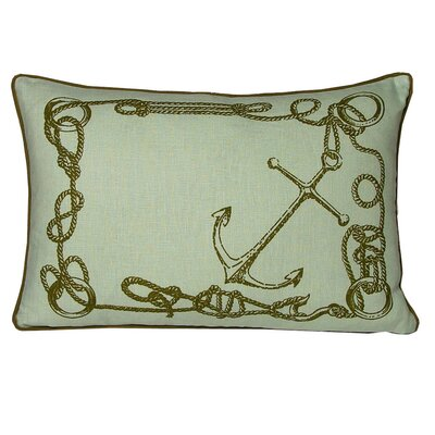 Nauticals Knots Lumbar Pillow Color: Seaglass