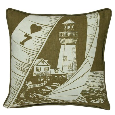 Nauticals Lighthouse Throw Pillow Color: Seaglass