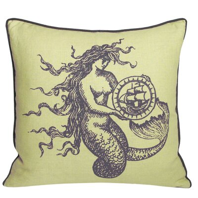 Nauticals Mermaid Throw Pillow Color: Aquarium