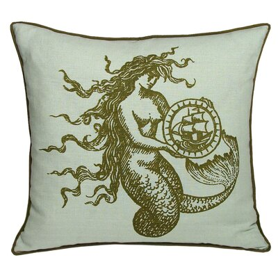 Nauticals Mermaid Pillow Color: Seaglass