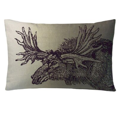 Animals Moose Lumbar Pillow Color: Twilight
