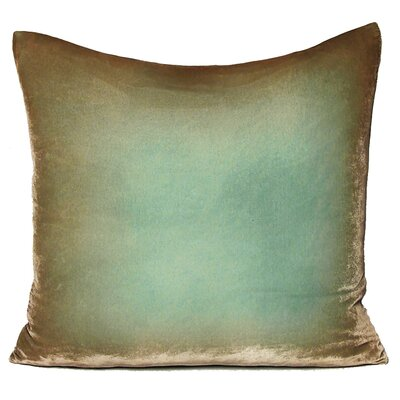 Ombre Velvet Throw Pillow Size: 22 H x 22 W, Color: Silver