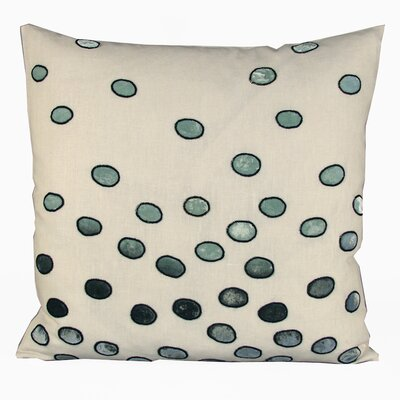 Ovals Embellished Throw Pillow Color: Ivory