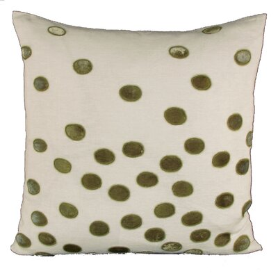 Ovals Embellished Throw Pillow Color: Pistachio
