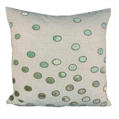 Ovals Embellished Throw Pillow Color: Sienna