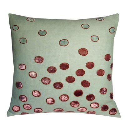 Ovals Embellished Throw Pillow Color: Topaz