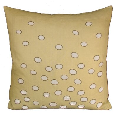 Ovals Embellished Throw Pillow Color: Vanilla