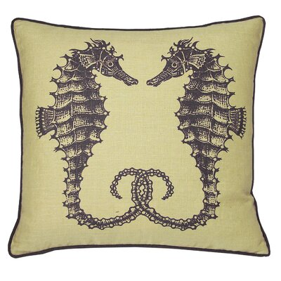 Nauticals Seahorse Throw Pillow Color: Aquarium