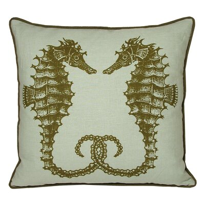 Nauticals Seahorse Pillow Color: Seaglass