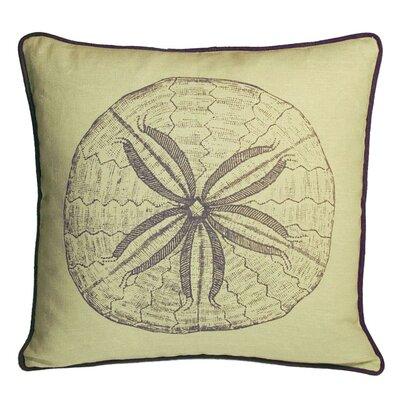 Nauticals Sand Dollar Throw Pillow Color: Aquarium