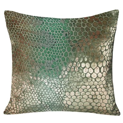 Snakeskin Velvet Throw Pillow Color: Antique