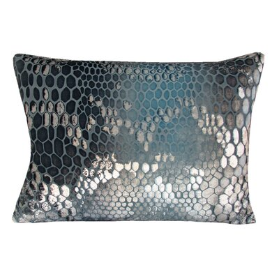 Snakeskin Velvet Lumbar Pillow Color: Dusk