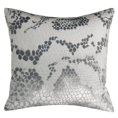 Snakeskin Throw Pillow Color: White