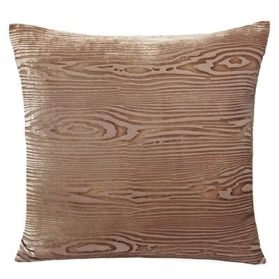 Woodgrain Velvet Throw Pillow Color: Champagne, Size: 18 H x 18 W x 4 D
