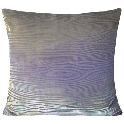 Wood grain Velvet Throw Pillow Color: Iris