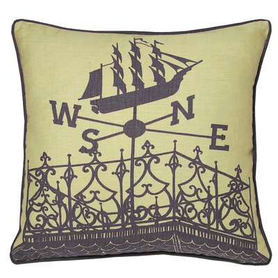 Nauticals Widows Walk Throw Pillow Color: Aquarium