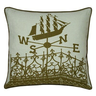 Nauticals Widows Walk Throw Pillow Color: Seaglass