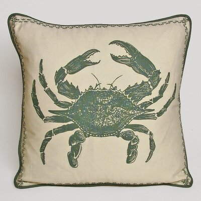 Nauticals Crab Throw Pillow Color: South Pacific