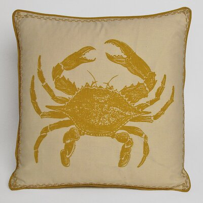 Nauticals Crab Throw Pillow Color: Yellow Submarine