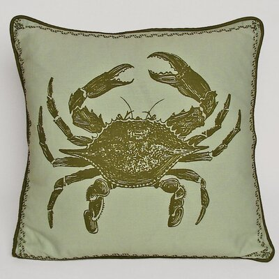 Nauticals Crab Throw Pillow Color: Sea Glass