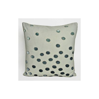Ovals Embellished Throw Pillow Color: Grey/Patina