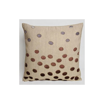 Ovals Embellished Throw Pillow Color: Iris