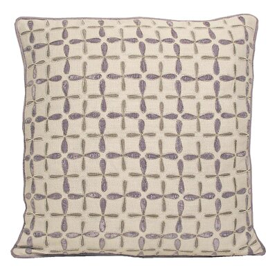 Petal Flower Embellished Linen Pillow Color: Iris